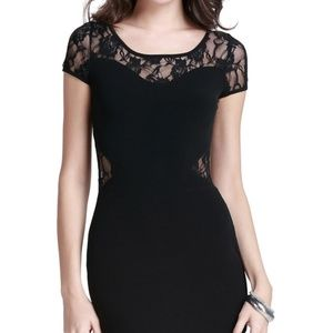Ambiance Black Lace Bodycon LBD